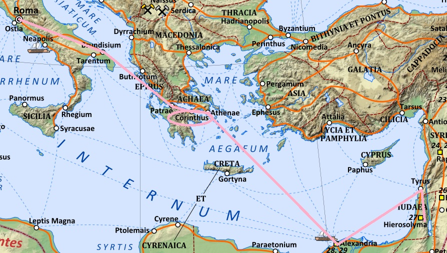 Corinth was at the crossroads of Empire.
